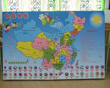 幼儿园科学发现室中国地图新上品
