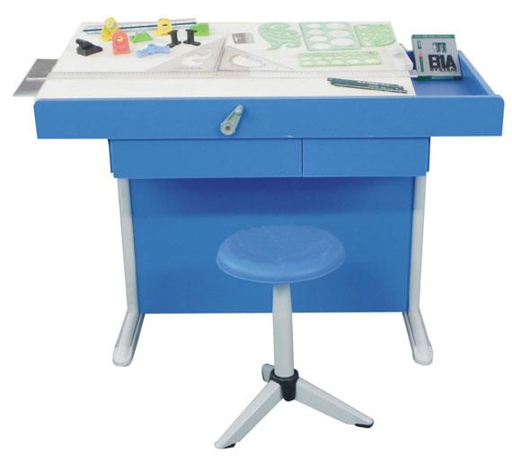 工程制图实训设备学生桌(钢木结构)