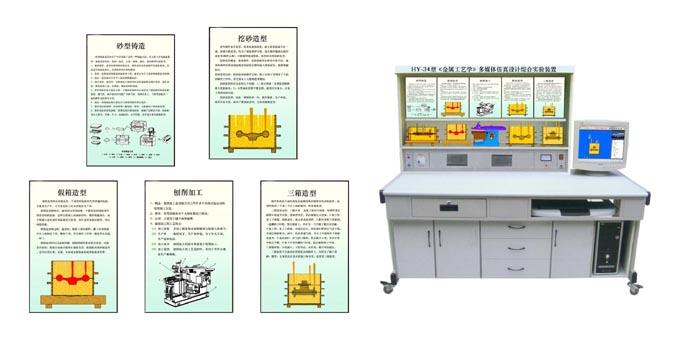 JD/D34型《金属工艺学》多媒体仿真设计综合实验装置