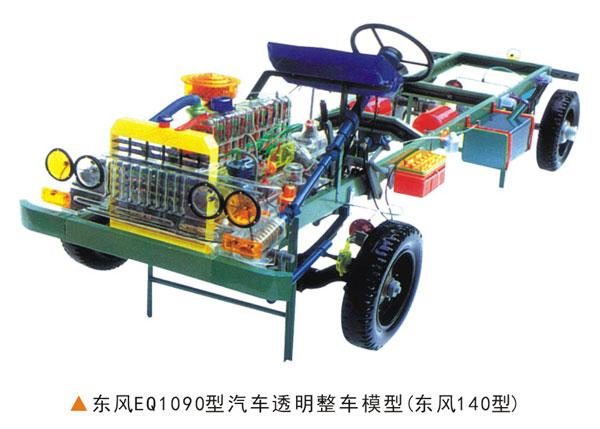 东风EQ1090型汽车透明整车模型