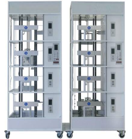 JDTSL-2009群控双联六层透明仿真教学电梯模型(触摸控制)