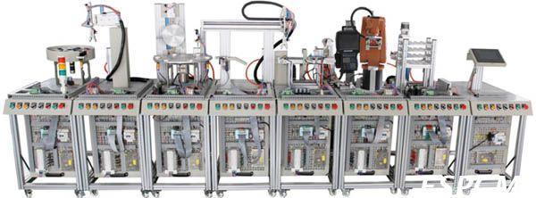 JDRX-J1机器人柔性自动化生产线实训系统(八站)